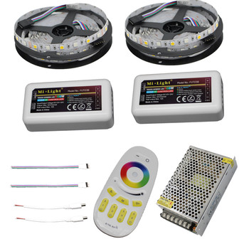 10M 15M 20M RGBW RGBWW Led Strip Light DC12V Vandtæt 5050 SMD + mi-lys Led-Controller + Power adapter Kit